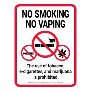 No Smoking No Vaping / Sign
