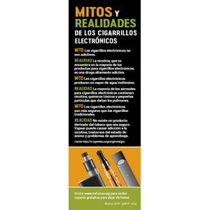 Vapes Myths Bookmark - Spanish