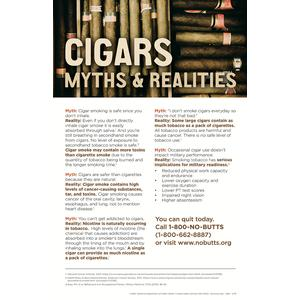 Cigar Myths & Realities Poster (Military)