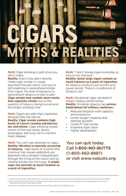Cigar Myths & Realities Poster (Military) - Poster - Tobacco