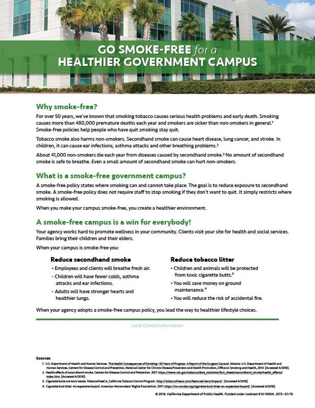 Smoke Free Government Campus (Suburban/Rural)