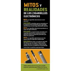 Vapes Myths Fact Card - Spanish