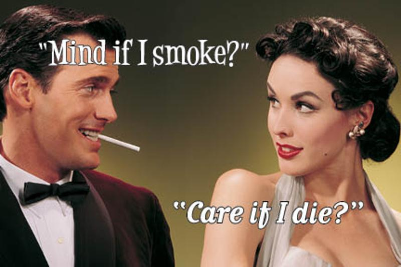 Mind If I Smoke? Care If I Die? Postcard