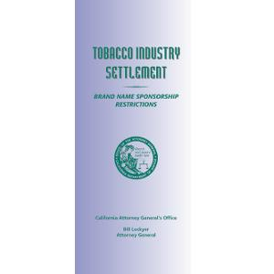 Tobacco Industry Settlement/Sponsor