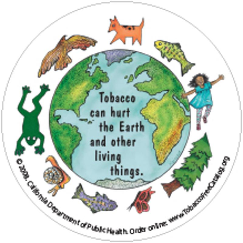 Tobacco Can Hurt the Earth Sticker