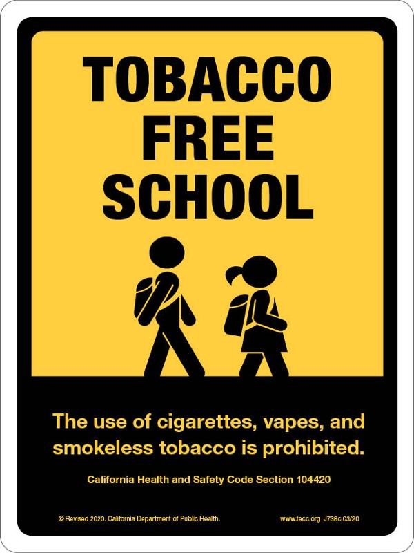 Tobacco-Free School - Sign