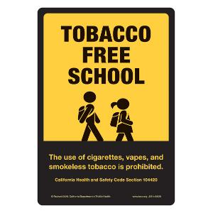 Tobacco-Free School Sticker