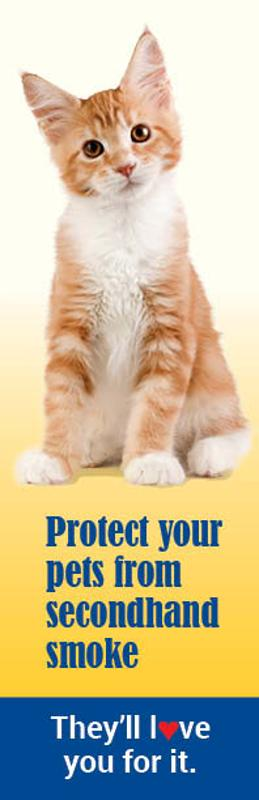 Protect Your Pets Cat Bookmark