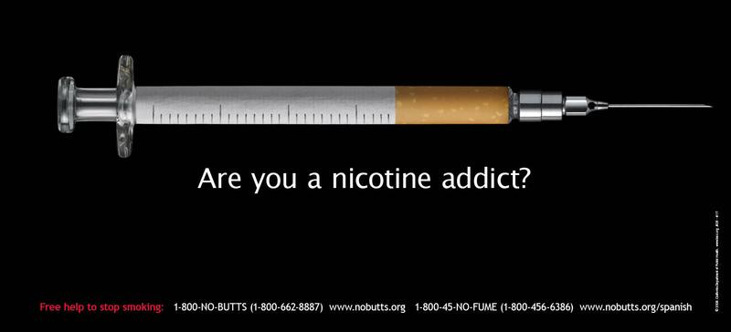 Are You A Nicotine Addict? - Poster