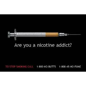 Are You A Nicotine Addict? - Postcard