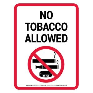 No Tobacco Allowed / Sign