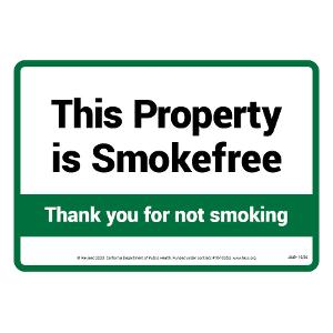 This Property is Smoke-Free / Sign