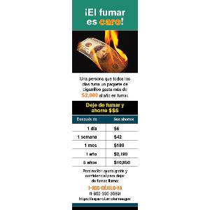 El Fumar Es Caro- (Got Money to Burn?) – Fact Card/Bookmark