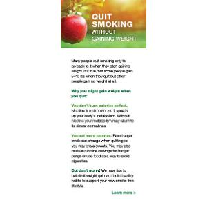 Quit Smoking without Gaining Weight – Fact Card