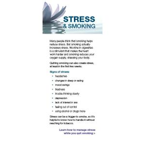 Stress and Smoking – Fact Card