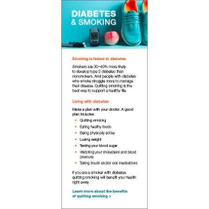 Diabetes and Smoking – Fact Card
