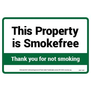 This Property Is Smoke-Free - Sticker