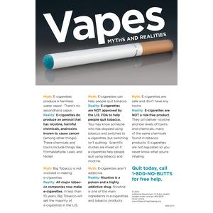 Vapes Myths and Realities (Black) / Poster
