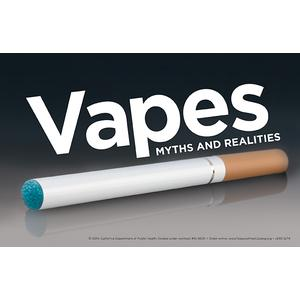 Vapes Myths and Realities (Black) / Fact Card