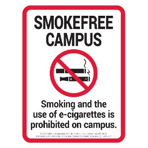 Smoke-Free Campus - Sign