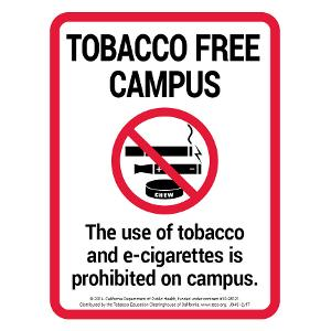 Tobacco Free Campus - Sign