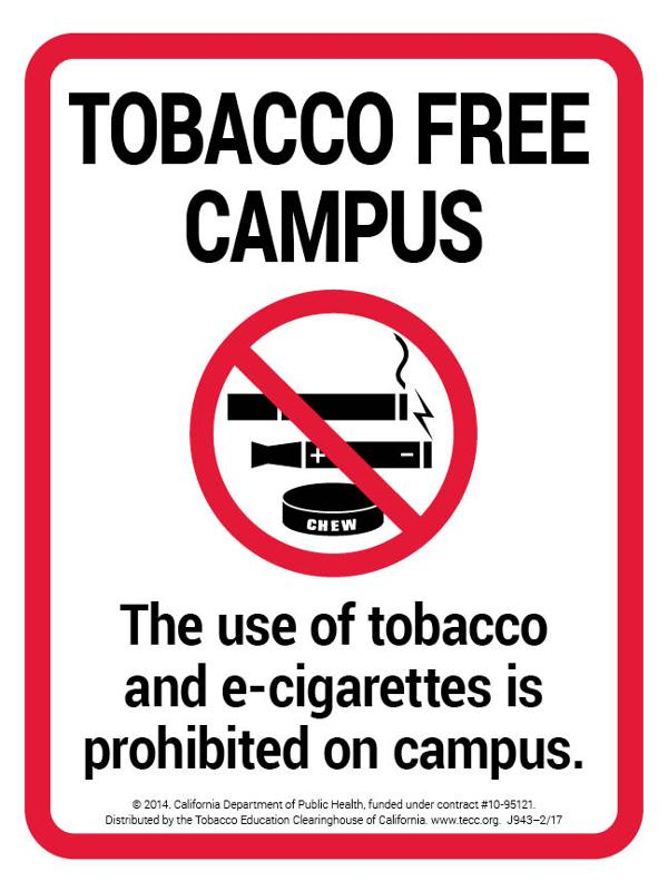 Tobacco-Free Campus - Sign