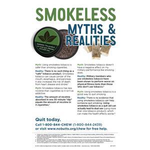 Smokeless Myths and Realities Poster - Military