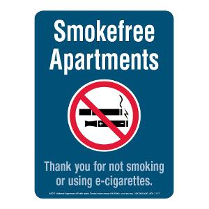 Smoke-free Apartments Sign
