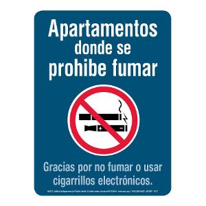 Smoke-free Apartments Sign - Spanish