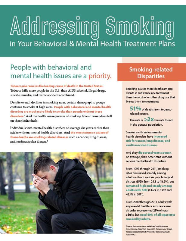 Addressing Smoking in Your Behavioral and Mental Health Treatment Plans