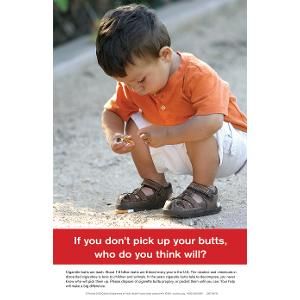 If you don't pick up your butts – Child