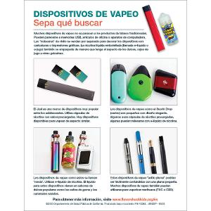 Vaping Devices, Know What to Look For, Spanish