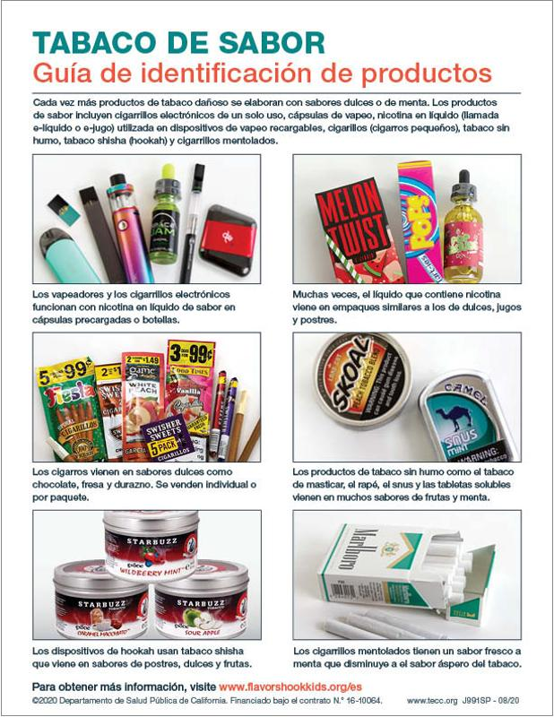 Flavored Tobacco Product ID Guide, Spanish