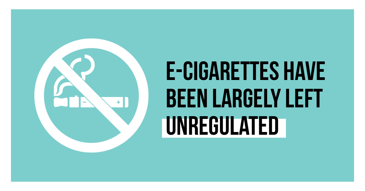 E-cigarettes have been largely left unregulated