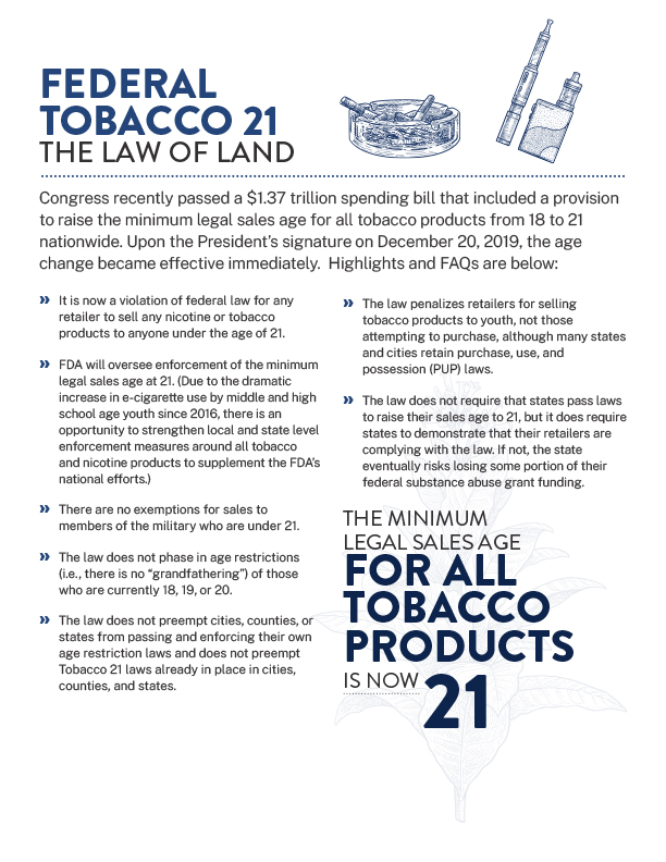 Federal Tobacco 21 factsheet