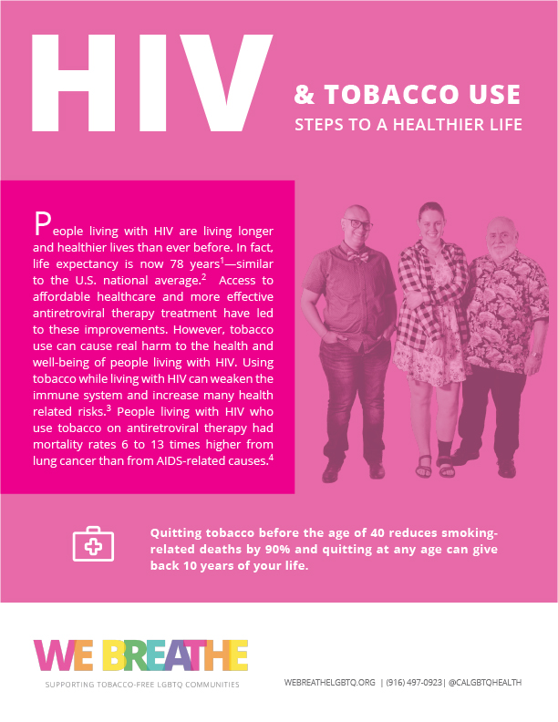 HIV and Tobacco Use factsheet