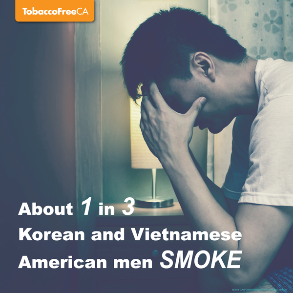 About 1 in 3 Korean and Vietnamese American men smoke