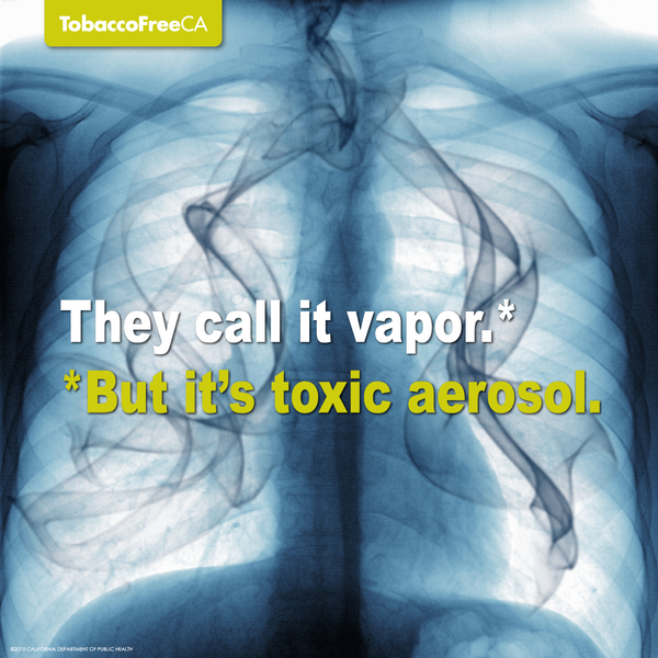 They call it vapor but it's toxic aerosol.