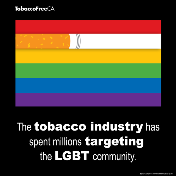 The tobacco industry has spent millions targeting the LGBT community.